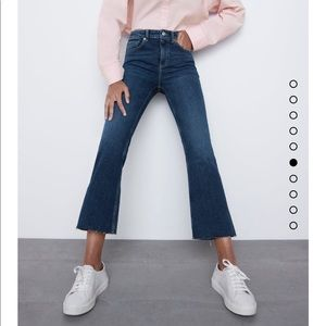 Brand New Medium Wash Cropped Denim